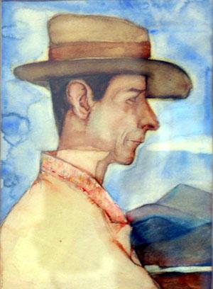Автопортрет на Николай Райнов (1889-1954)