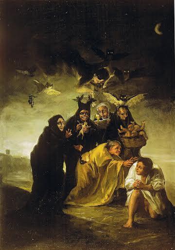 """Франсиско Гоя, """"Прогонване на духове"""""""
