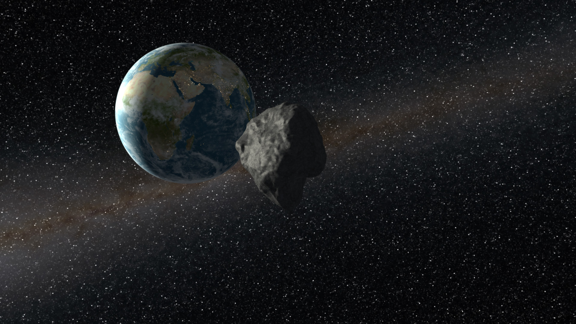 asteroids earth collision - HD 1920×1080