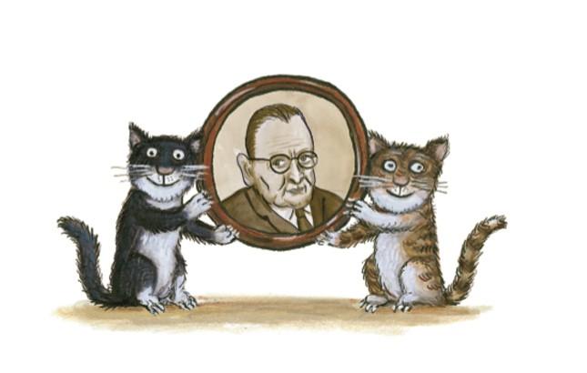 """""""Популярна книга за котките"""" първоначално са отделни писма от Томас Елиът до племенниците му. Илюстрация: Аксел Шефлър - Котките на Т. С. Елиът за първи път на български"""