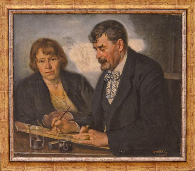 Иван Мърквичка и жена му