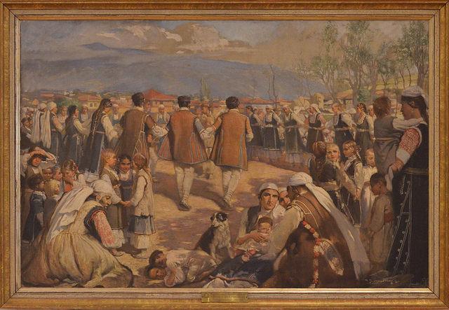 """Иван Мърквичка, """"Шопско хоро"""", 1892 - Как българските художници се опитаха да настигнат Европа"""