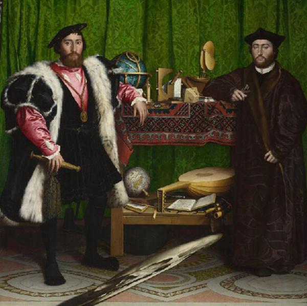 """""""Посланиците"""" (1533) от Ханс Холбайн Млади съдържа зловеща изненада, която изскача от сенките"""