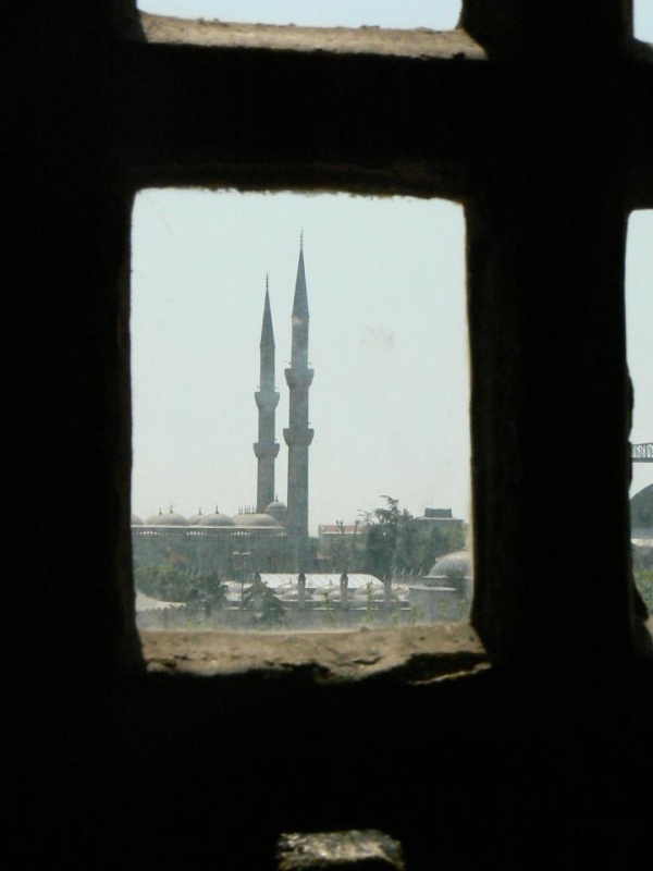 Поглед от Синята джамия към Света София