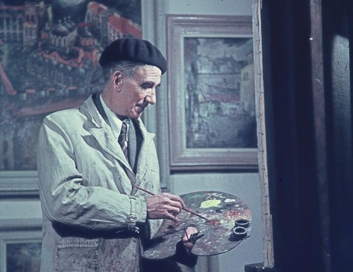 Цанко Лавренов в ателието си