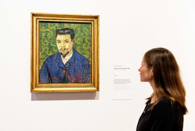 Портретът на д-р Феликс Рей в Музея на Ван Гог в Амстердам. Снимка: ЕПА/БГНЕС