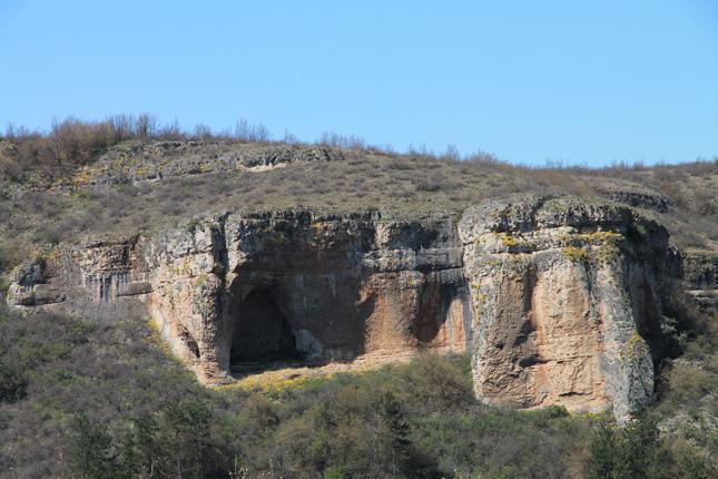 Скалната арка, наричана от местните Слона.