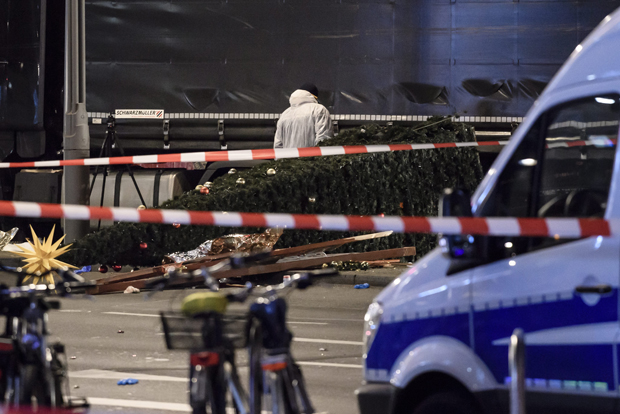 Truck crashes into a Christmas market in Berlin