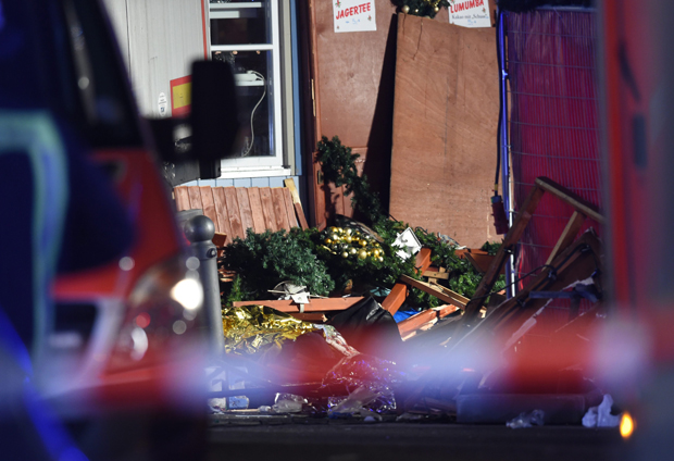 Truck crashed into a Christmas market in Berlin