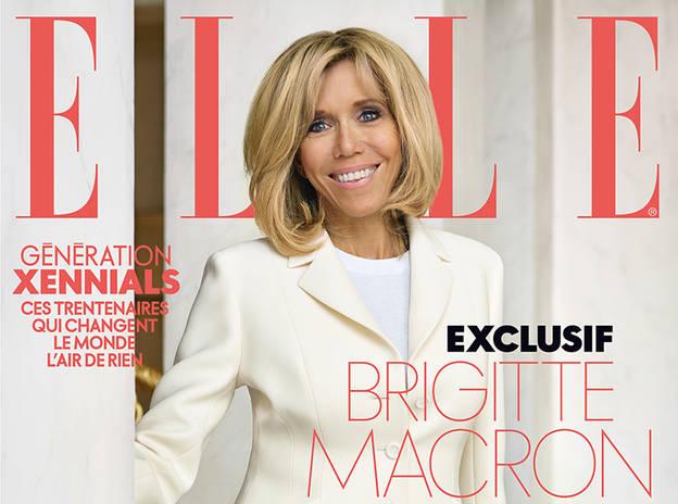 """Детайл от корицата на """"Ел"""" - Брижит Макрон: ХХI в. ще принадлежи на жените"""