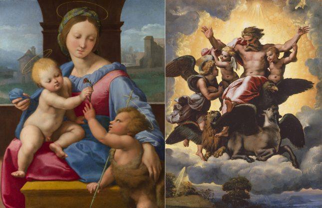 """""""Мадоната с младенеца и малкия Йоан Кръстител"""" и """"Видението на Езекил"""" на Рафаело - """"Албертина"""" събира Рафаело и Брьогел Стария"""
