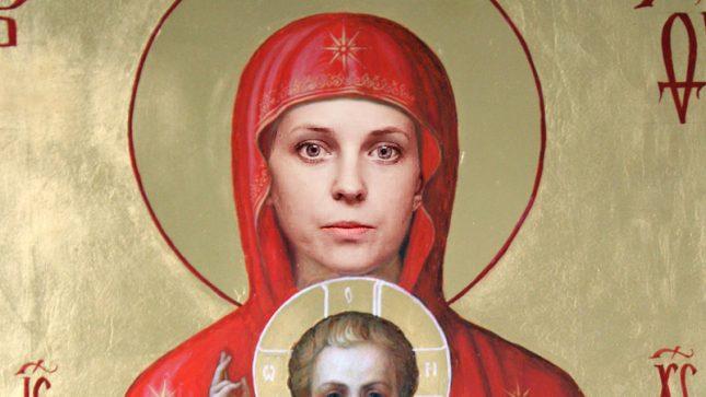 Към 14 ч. на 9 октомври петицията за канонизация на Наталия Поклонска беше събрала 1171 подписа. Илюстрация: Петиция за  канонизация на Наталия Поклонска за светица - Прокурор, депутат, светица?