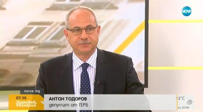 Антон Тодоров в студиото на Нова телевизия. - Бясното куче, шайката и празният стол