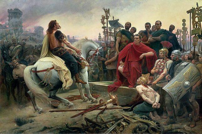 """""""Верцингеторикс се предава на Юлий Цезар"""", Лионел Роайер (1899) - Цезар по халат, изпод перото на Дюма (откъс)"""