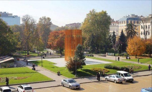 """Скулпторът Пламен Деянофф лично избрал за """"Бронзовата къща"""" мястото на бившия мавзолей на площад """"Батенберг"""". - Гласувано: Поставят Бронзовата къща на мястото на Мавзолея"""
