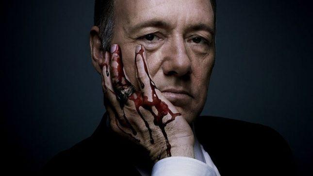 """Кевин Спейси в ролята на Франк Ъндъруд в сериала """"Къща от карти"""" - Смъртта на Кевин Спейси"""