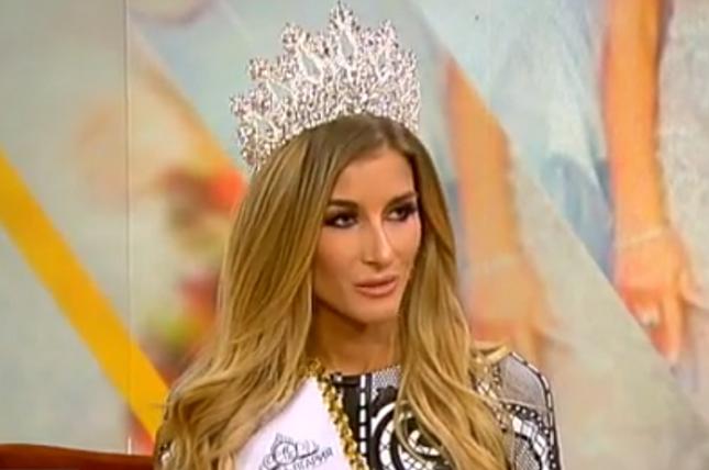 Мис България 2017 Тамара Георгиева предизвика бурни дебати във Фейсбук достойна ли е за титлата. Снимка: Стопкадър от Нова телевизия - Мис България и сламката в чуждия нос