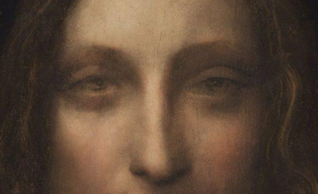 """""""Спасителят на света"""" на Леонардо да Винчи - най-скъпата картина, продадена на търг в историята, детайл. Снимка: ЕПА/БГНЕС - Целият Леонардо"""