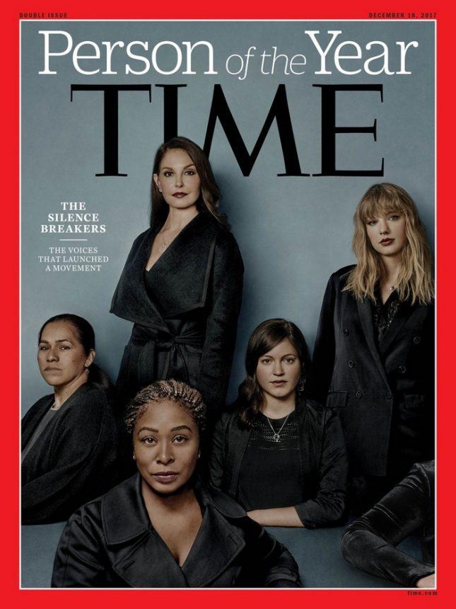 """На корицата на сп. """"Тайм"""" са Ашли Джъд, Тейлър Суифт, Сюзан Фоулър, Адама Иу и Исабел Паскуал. - Личност на годината в """"Тайм"""": Жените, проговорили за сексуалното насилие"""