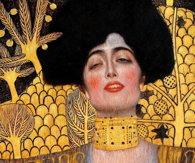 """В картината """"Юдит I"""" (детайл) Климт изследва разрушителната и опасна сила на женската сексуалност. - Днес поетичен, преди 100 г. """"неприличен"""""""
