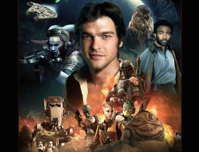 """Постер на """"Соло: История от света на Междузвездни войни"""", детайл - """"Не ми се искаше, но имах желание"""""""