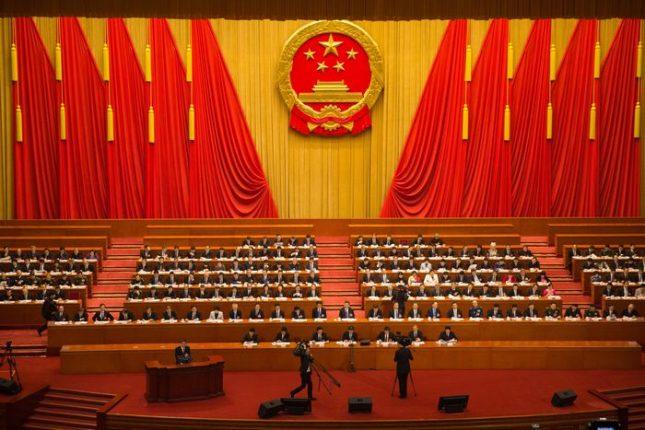 Народната зала в Пекин, където по време на четвъртата пленарна сесия на 13-тия Национален народен конгрес (парламента) делегатите гласуваха поправки в Конституцията, включително и отмяната на ограниченията за президентския мандат. Снимка: ЕПА/БГНЕС - Медиите и киното в Китай минават под контрола на Комунистическата партия