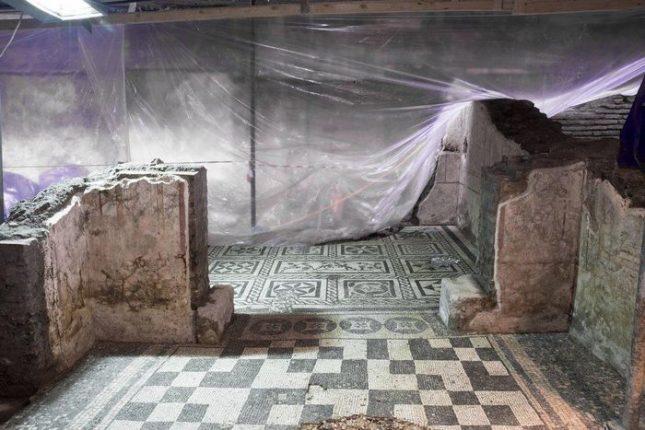 Стопаните на античната къща, открита на 13 метра под земята, очевидно са живели разточително. Снимка: Soprintendenza Speciale di Roma - Антична вила открита по трасето на метрото в Рим
