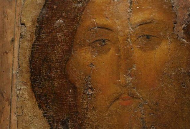 """Фрагмент от икона на Исус Христос от Андрей Рубльов - Руската история като безкрайни """"Репетиции"""" за края на света"""