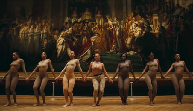 Бионсе и Джей Зи вкараха черната култура в Лувъра. Снимка: Стопкадър от видеото - Маймунско л…о или шедьовър? (видео)
