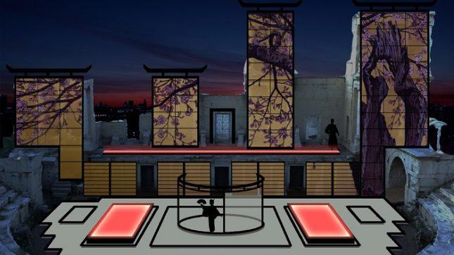 """3D мапинг ще превърне античната пловдивска сцена в японски театър. Снимка: """"Опера Оупън"""" - """"Мадам Бътерфлай"""" полита в Античния театър"""