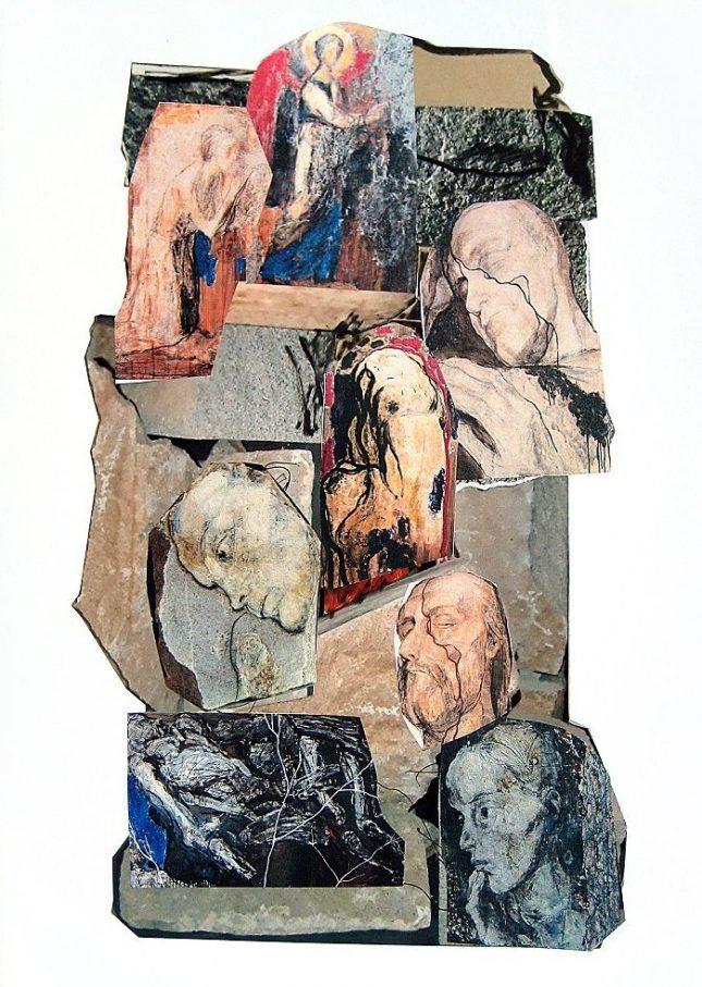 """Колаж от произведения на Светлин Русев, подготвен от самия него за изложбата на 14 юни. Репродукция: Галерия """"Арте"""" - Последната изложба на Светлин Русев щяла да бъде каменна"""