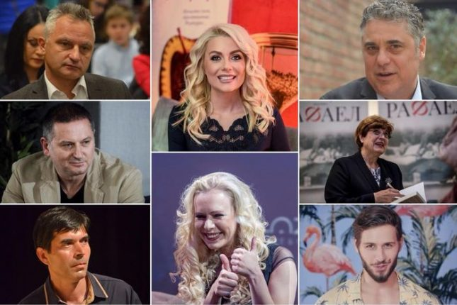 """Някои от най-продаваните автори в годишната класация на Книжен център """"Гринуич"""". Снимки: Емил Л. Георгиев/Площад Славейков, """"Ентусиаст"""", стопкадър от видео - Писателят все повече шоумен"""