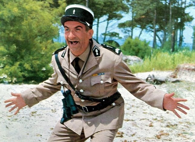 У нас Луи дьо Фюнес е най-популярен като инспектор Крюшо от поредицата за полицаите от Сен Тропе. - Луи дьо Фюнес – дребният гигант на френската комедия (видео)
